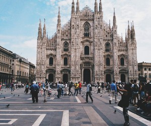 happy, italy, and milan image