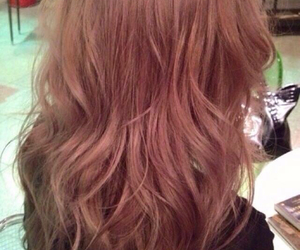 brown, curl, and long hair image