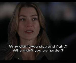 quotes, grey's anatomy, and fight image