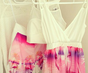 pink, fashion, and dress image