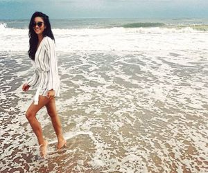 shay mitchell, pretty little liars, and beach image