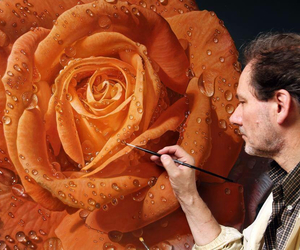 art, Painter, and rose image