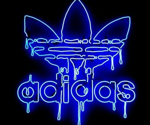 adidas, blue, and light image