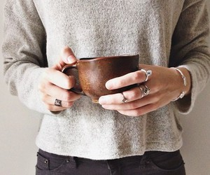 coffee, rings, and cup image