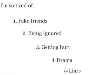 drama, fake, and Liars image