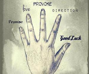 direction, good luck, and hand image