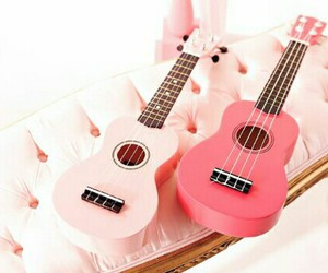 guitar, Hot, and pink image