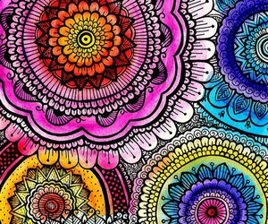 wallpaper, mandala, and colors image