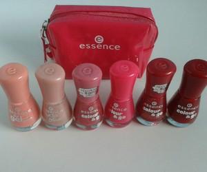 essence, nail polish, and pink image