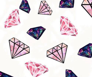 diamond, wallpaper, and pink image