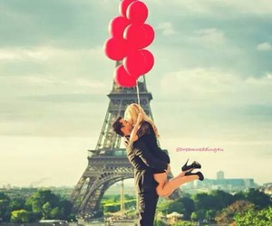 paris, love, and balloons image