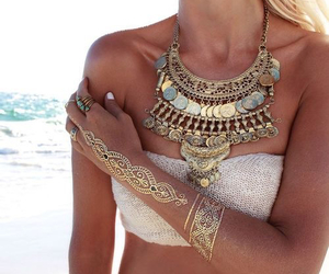 summer, style, and gold image