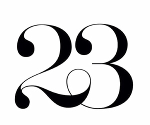 23, number, and birthday image