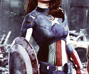 Marvel, peggy carter, and captain america image
