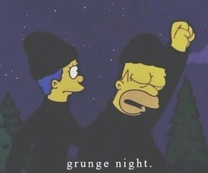 grunge, simpsons, and night image