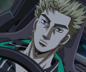 anime, drift, and initial d image
