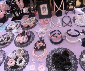 pastel goth, goth, and accesories image