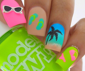 nails, summer, and nail art image