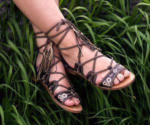 black hat, lace up sandals, and arizona girl fashion blog image