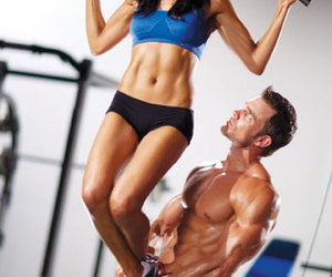 couple, fitness, and love image