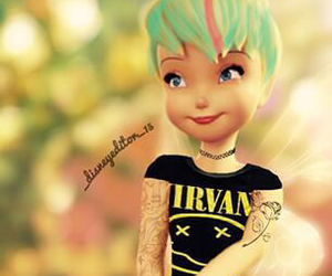 colored hair, tinker bell, and nirvana image