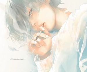 albino, anime boy, and anime image
