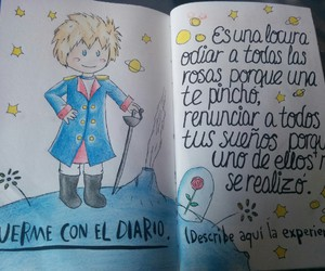 diario, journal, and the little prince image