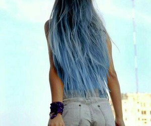 bright, long hair, and colourful image
