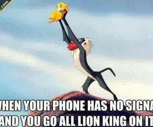 funny, lion king, and phone image