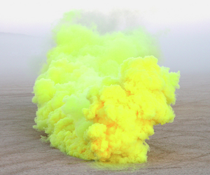 yellow and smoke image