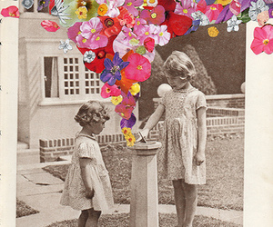 flowers, vintage, and art image