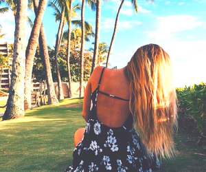hair, summer, and girl image