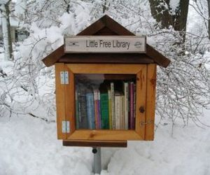 book, library, and snow image