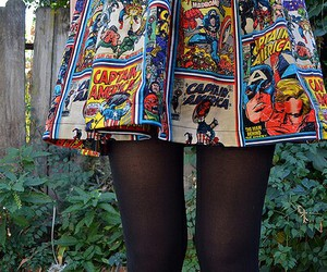 skirt, comic, and style image