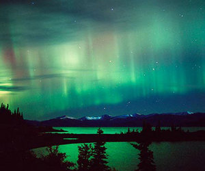 alaska, aurora boreal, and northern lights image