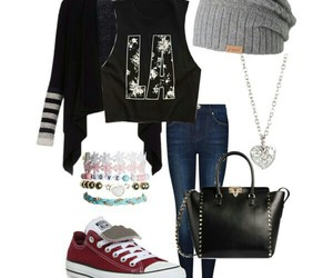 high school, Polyvore, and outfit image
