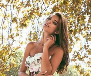dress and flowery dress image