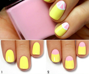 nails, yellow, and diy image