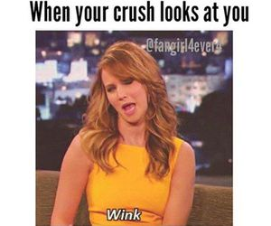 crush, funny, and wink image