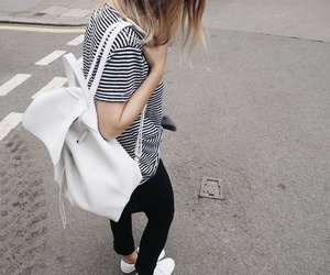 black, black and white, and fashion street image