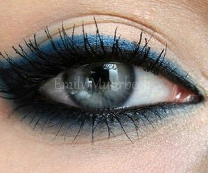 makeup, blue, and make up image
