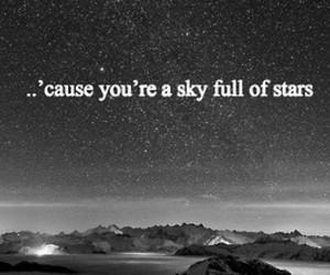 sky, stars, and coldplay image