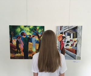 art and girl image