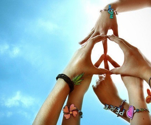 <3, peace, and firends image