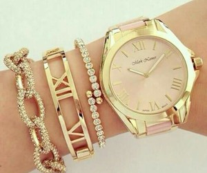 gold, watch, and style image
