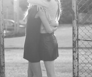 girl, friends, and hug image