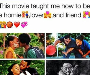 couple, love & basketball, and friends image