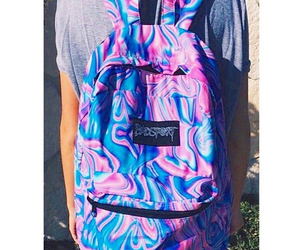awesome, backpack, and blue image