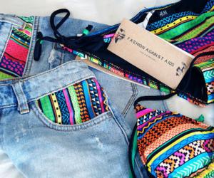 fashion, bikini, and shorts image