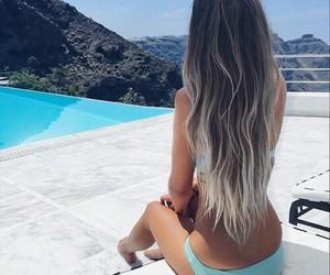 beauty, bikini, and blue image